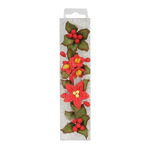 House of Cake 20204 4 Mini Hard Sugar Poinsettia Sprays