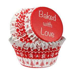 Baked With Love 2334 Nordic Red Cupcake Cases - Pkt25