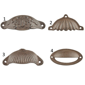 Esschert Design HW10 Cast Iron Drawer Pull Handle - Various Designs