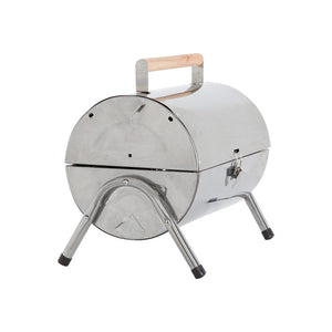 Portable Charcoal Barrel Barbecue Stainless Steel