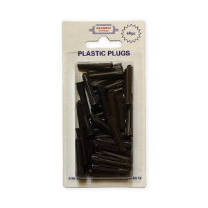 Olympic Fixings Plastic Plugs - Brown 5-6mm Pk 40