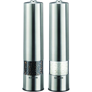 Salter 7522SSTUR Stainless Steel Electronic Salt & Pepper Mill
