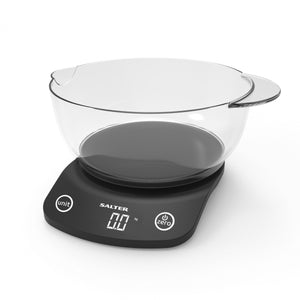 Salter 1074 BKDR Vega Electronic Kitchen Scale - Black