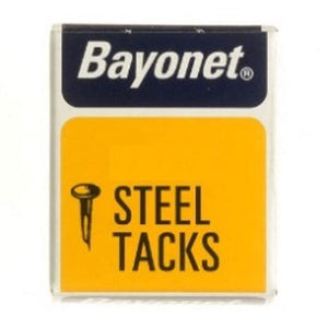 Bayonet Steel Tacks Blued In Small Box - Various Sizes