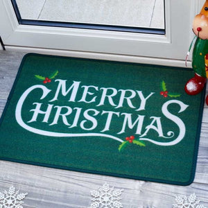Three Kings 5520002 Washable Christmas Doormat 40x60cm - Holly Jolly