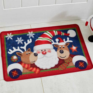 Three Kings 5520005 Washable Christmas Doormat 40x60cm - Santa and Friends