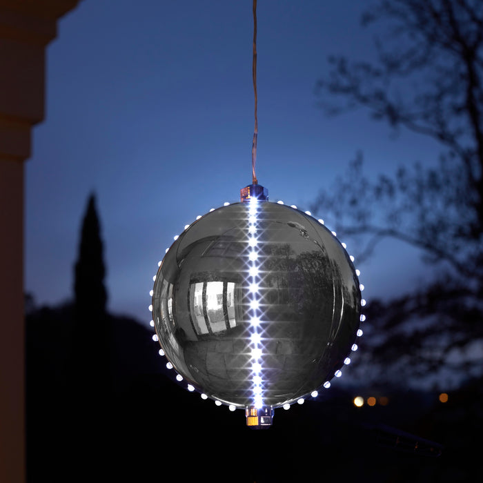 Three Kings 2512015 Meteor Shower LED Bauble 15cm - Silver
