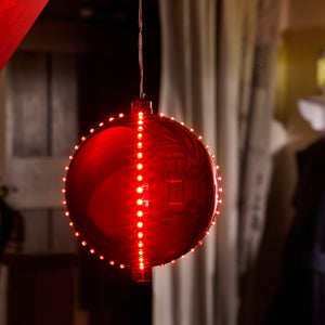 Three Kings 2512016 Meteor Shower LED Bauble 15cm - Red