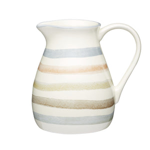 Kitchencraft KCCCJUG Classic Ceramic Striped Milk Jug 500ml