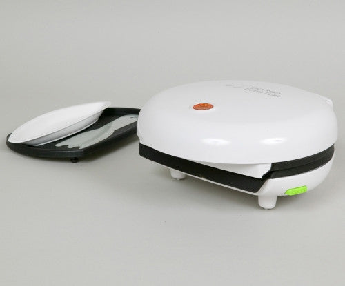 George Foreman Compact 2-Portion Grill White 14528