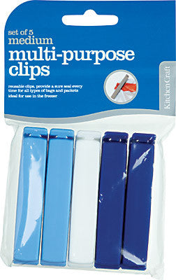 Kitchencraft KCCLIPSMED Multi purpose Bag Clips