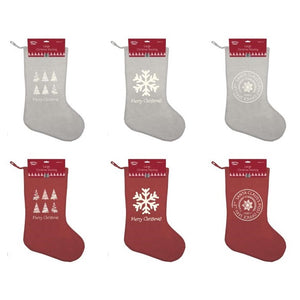 Country Club XMA146800 Vintage Style Large Christmas Stocking - Various