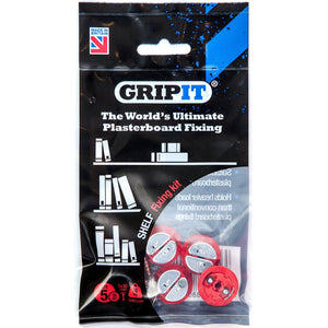 Gripit GSHELFKIT Plasterboard Fixing Shelf Kit Pkt5 Red