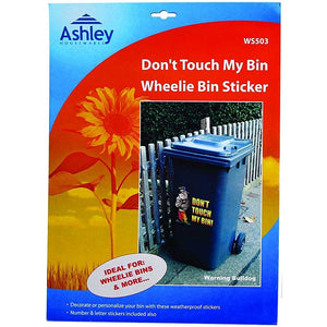 Ashley Wheelie Bin Sticker - Don't Touch My Bin