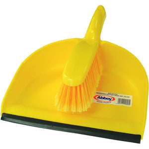 Abbey WPESBU Dustpan & Brush - Yellow