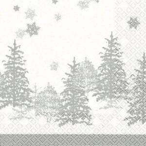 Home Fashion 611020 3 Ply Napkins Pkt20 - Tree & Snowflakes