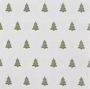 Home Fashion 611841 3 Ply Napkins Pkt20 - Linen Tree Green