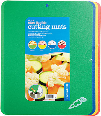 Kitchencraft KCFLEXCUT2 Flexible Colour Coded Cutting Mats