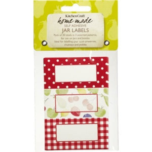 Kitchencraft KCHMJLAB11 Self-Adhesive Jam Jar Labels - Orchard