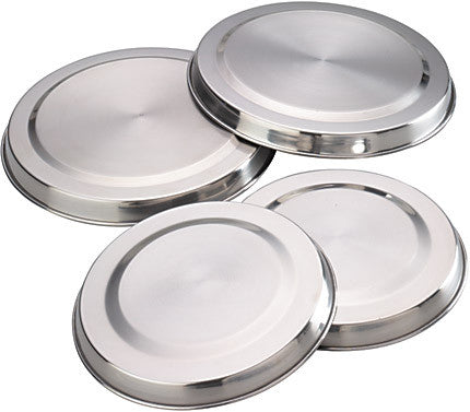 Kitchencraft KCHOBSET Set of Four Stainless Steel Hob Covers