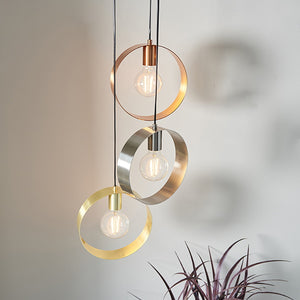 Endon Lighting 81922 Hoop 3Lt Ceiling Pendant 40w