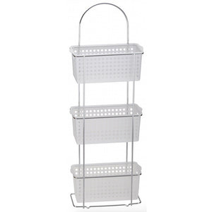 Blue Canyon BA-0550 3 Tier Standing Caddy Chrome with Plastic Baskets