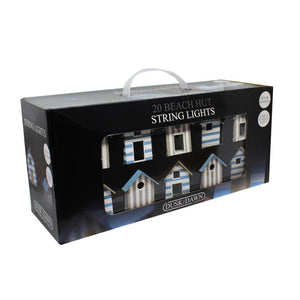 Dusk Till Dawn STRING4B 20 Beach Hut Solar Powered String Lights