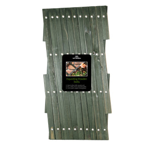 Tom Chambers Expanding Wooden Trellis Green - Various Sizes
