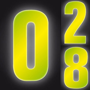 Wheelie Bin Numbers High-Vis - Yellow