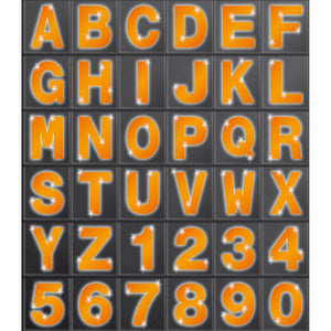 High-Vis Letters & Numbers 80mm - Orange