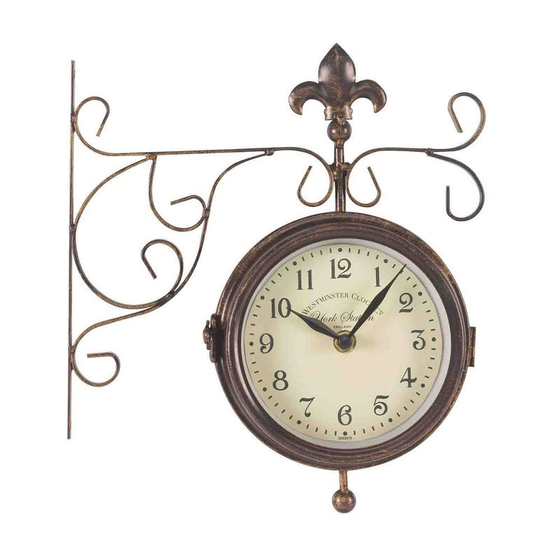 Outside In Designs 5063000 Double Sided York Station Clock/Thermometer