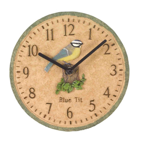 Outside In Designs 5064001 Blue Tit Wall Clock 8""