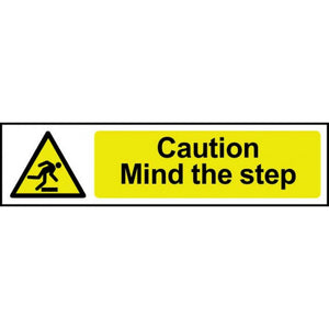 Centurion 5109 Caution Mind The Step Sign - 200 x 50