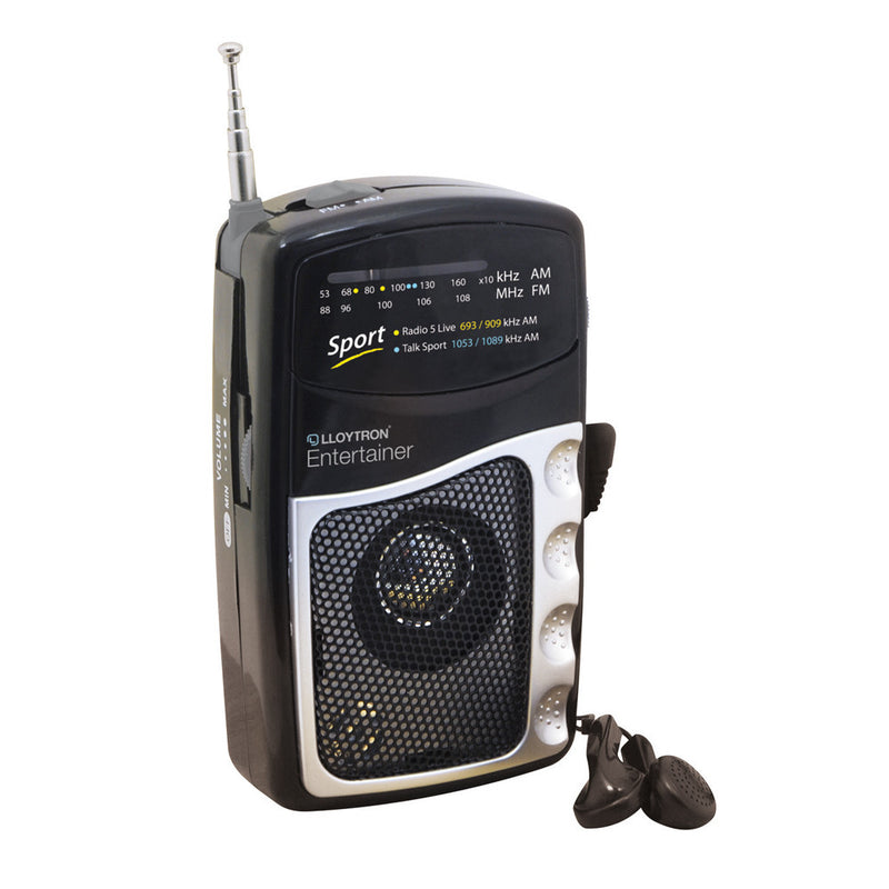 Lloytron N2201BK ''Entertainer'' 2 Band DC Portable Radio - Black