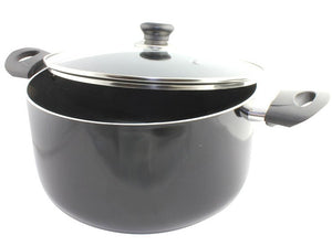 Pilot TR010 24cm Stockpot with Lid - Black