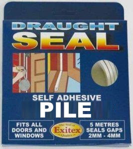Exitex 1.01.0425.0005.35 Self Adhesive Pile Draught Excluder White