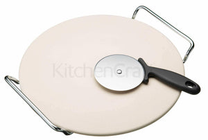 Kitchencraft KCPIZSTONE World of Flavours pizza stone & Cutter
