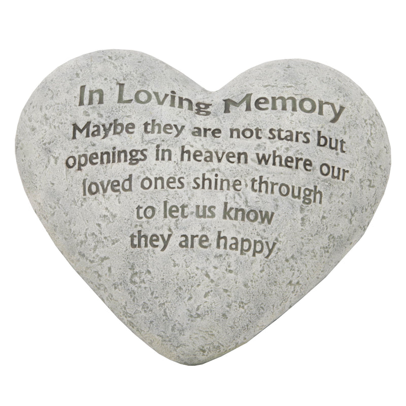 Widdop 59937 Memorial Heart Shaped Plaque - In Loving Memory