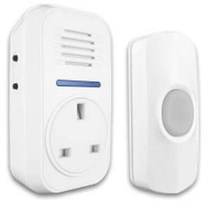 Smart Chime 66729 Plug Through Door Chime with Bell Push