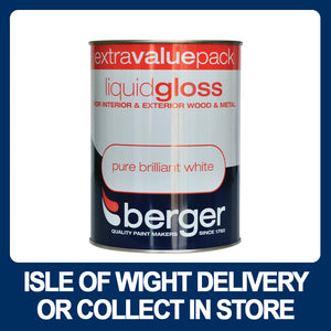 Berger Liquid Gloss Pure Brilliant White - 1.25Ltr