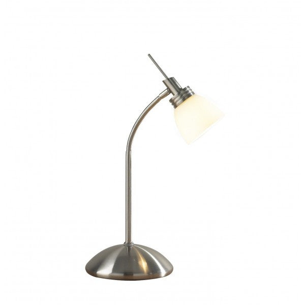 Dar AGE4046 Agean Touch Table Lamp Satin Chrome G9