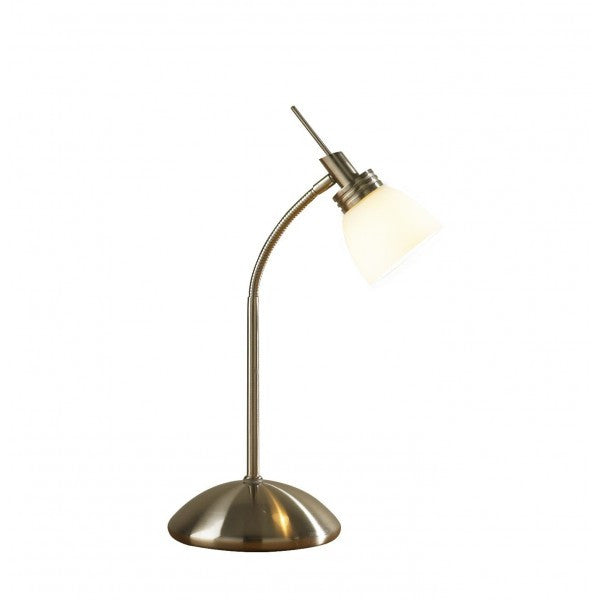 Dar AGE4075 Agean Touch Table Lamp Antique Brass G9