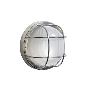 Dar SAL5044 Salcombe Large Round Steel  Outdoor Wall Light IP44