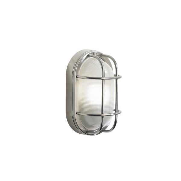 Dar SAL5244 Salcombe Small Oval Steel Outdoor Wall Light IP44