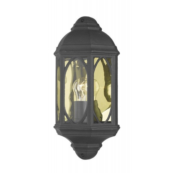 Dar TEN2122 Tenby Outdoor Wall Light Black
