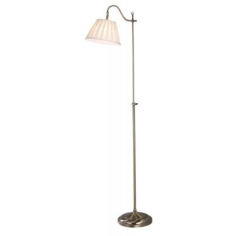 Dar SUF4975X Suffolk Floor Lamp Rise & Fall Antique Brass