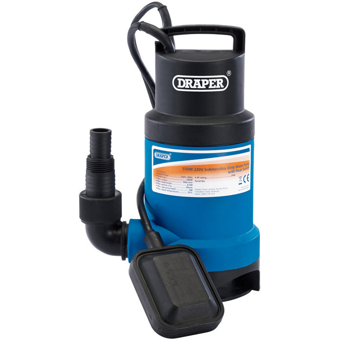 Draper 61621 Submersible Dirty Water Pump with Float Switch