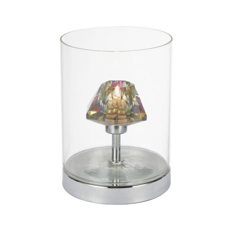 Dar DEC4108 Decade Table Lamp Polished Chrome/ Clear Touch