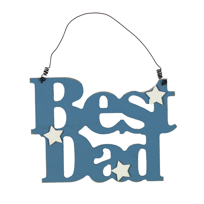 Widdop 62236 Wooden Cut Out Plaque - Best Dad