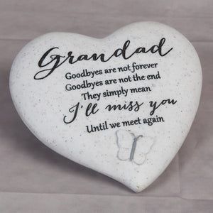 Widdop 62580 Memorial Heart Shaped Plaque - Grandad
